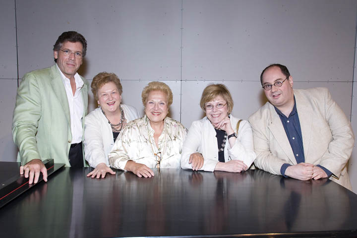 Marilyn Horne Foundation Song Competition 2007 at the Music Academy of the West; left to right:  Thomas Hampson, Barbara Hocher, Marilyn Horne, Lyric Opera of Chicago's Gianna Rolandi, and Columbia Artists' Michael Benchetrit.  Photo:  David Bazemore ©