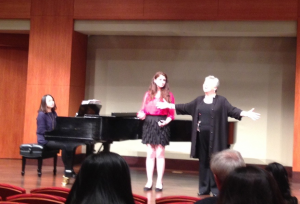 At Manhattan School of Music  Ms. Hocher coached precollege student Melanie Berman, with pianist Ruiqi Fang.